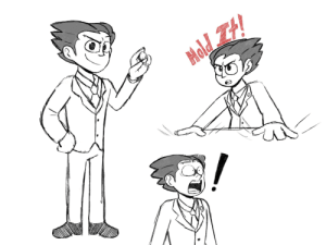 I doodle Ace Attorney characters Week 1: Phoenix Wright: I doodle Ace Attorney characters Week 1: Phoenix Wright