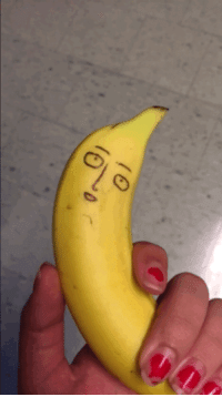 I doodled Saitama from One-Punch Man (banana for scale): I doodled Saitama from One-Punch Man (banana for scale)