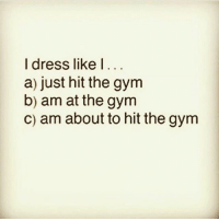 Gym, Dress, and Link: I dress like I..  a) just hit the gym  b) am at the gym  c) am about to hit the gym Who else? ✋🏼 . @DOYOUEVEN 👈🏼 10% OFF STOREWIDE (use code DYE10 ✔️ tap the link in our BIO 🎉