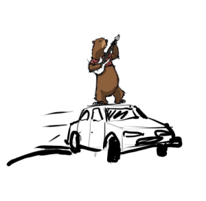 I drew a car that can bear a bear with a bare midriff mid-riff mid-drift: I drew a car that can bear a bear with a bare midriff mid-riff mid-drift