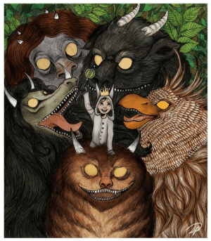 """Books, Wild, and One: I drew a tribute to one of my favorite children's books, """"Where the Wild Things Are"""""""