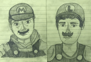 I drew my friends as Mario and Luigi and I think it turned out nice: I drew my friends as Mario and Luigi and I think it turned out nice