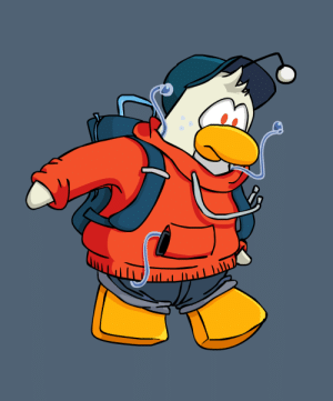 Club, Penguin, and Club Penguin: I drew the teenager snoo as a Club Penguin penguin, I am going to add a Snooflle so be tuned