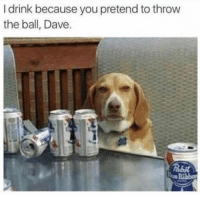 Memes, 🤖, and You: I drink because you pretend to throw  the ball, Dave. Enough is enough