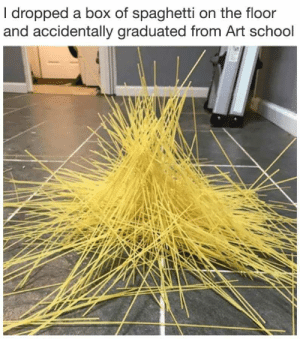 School, Spaghetti, and Art: I dropped a box of spaghetti on the floor  and accidentally graduated from Art school