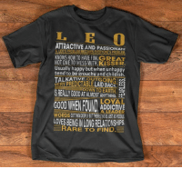 Only for PROUD #Leo - Limited Edition :) Order here => https://viralstyle.com/horoscope/leo-best Click link above to order now! Or click link in profile for more exclusive designs! Share & tag your friends (y) (y) (y) #birthday #leoseason #teamleo #leozodiac #iamleo #bornasleo #leothing: I. E  ATTRACTIVE AND PASSIONATE  KNOWS HOW TO HAVE FUN NOT ONE TO MESS WITH KISSER.  Usually happy but when unhappy  tend to be grouchy and childish.  VERY PREDICTABLE  LAID BACK  DOWN TO EARTH  ADDICTIVE  A LEADER  LOVES RARE TO FIND. Only for PROUD #Leo - Limited Edition :) Order here => https://viralstyle.com/horoscope/leo-best Click link above to order now! Or click link in profile for more exclusive designs! Share & tag your friends (y) (y) (y) #birthday #leoseason #teamleo #leozodiac #iamleo #bornasleo #leothing