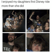 disney ride: I enjoyed my daughters first Disney ride  more than she did  the bleesed one  TDL  TUL