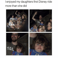 The look of pure joy.: I enjoyed my daughters first Disney ride  more than she did  TOL  TUL The look of pure joy.