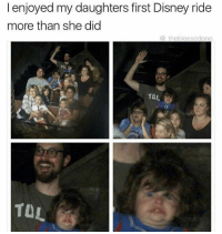 disney ride: I enjoyed my daughters first Disney ride  more than she did  (a theblees edone  TOL  TUL