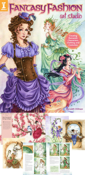 pixilation:  Reposting myself BTW :) Have you seen my new book? fairytalefashion:  Hey guys! Remember the book I said I was writing? Here it is! - Fantasy Fashion Art Studio from Impact Books. If you like to draw fantasy and fairies or love costume design this is the book for you! It shows the painting process step by step for 11 paintings. There's also info on sketching, anatomy, painting backgrounds, and costume details. It coversfashions for fairies and fantasy characters from nature and history; Medieval, Renaissance, Folk costumes Japanese, Rococo, Victorian and Steampunk. *You might find this it at major bookstores and craft stores. If you buy the book direct from me I will autograph it for you (and write a message if it's a gift).* Go to http://meredithdillman.com/Books/ to order a signed copy. P.S For people outside the USA it's easier for you to order from a local bookstore because of shipping costs : I FANCASU FASHION  art studio  IMPACT  Creating  Romantic  Characters,  Clothing and  Costumes  Meredith Dillman   Basic Drawing and  Painting Techniques  Hooves pixilation:  Reposting myself BTW :) Have you seen my new book? fairytalefashion:  Hey guys! Remember the book I said I was writing? Here it is! - Fantasy Fashion Art Studio from Impact Books. If you like to draw fantasy and fairies or love costume design this is the book for you! It shows the painting process step by step for 11 paintings. There's also info on sketching, anatomy, painting backgrounds, and costume details. It coversfashions for fairies and fantasy characters from nature and history; Medieval, Renaissance, Folk costumes Japanese, Rococo, Victorian and Steampunk. *You might find this it at major bookstores and craft stores. If you buy the book direct from me I will autograph it for you (and write a message if it's a gift).* Go to http://meredithdillman.com/Books/ to order a signed copy. P.S For people outside the USA it's easier for you to order from a local bookstore because of shippin