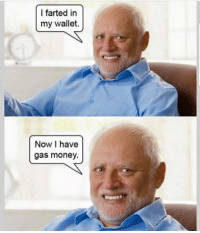Money, Now, and I Farted: I farted in  my wallet.  Now I have  gas money. https://t.co/CcvONdpA3K
