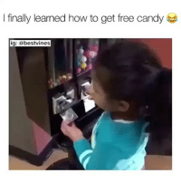 Candy, Memes, and Free: I finally learned how to get free candy  ig: a bestvines ⠀ 🌱This Kid Is A Genius! 😂 ✅By @kingali