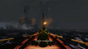 """I finally Understand what they mean by """"He doesn't row."""" """" Only the guy who isn't rowing has time to rock the boat.""""- Jean-Paul Sartre. I could be wrong though. (Bioshock Infinite): I finally Understand what they mean by """"He doesn't row."""" """" Only the guy who isn't rowing has time to rock the boat.""""- Jean-Paul Sartre. I could be wrong though. (Bioshock Infinite)"""