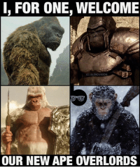 "Godzilla, Memes, and Monkey: I, FOR ONE, WELCOME  IGIBLERDVISION  OUR NEW APE OVERLORDS 2017 in a nutshell: the year of monkey kings. Ape*, whatever. Lol. I saw KongSkullIsland! The short of it? Definitely a more exciting movie to watch than 2014's Godzilla. Not only were the human characters more colorful and engaging (almost borderline caricatures at times) but Kong himself wasn't used as sparingly as the Big G was - which made for a pretty fast paced brainless popcorn flick overall. It was good, but not as great as I was hoping. (I'm a huge Kaiju fan from back in the day and even owned the OG King Kong vs Godzilla on VHS when I was a kid. Thanks mom.) -- Peter Jackson's version of KingKong actually had more character and depth than this go-around and i sadly never had a big cathartic ""HELL YES"" moment in this film like in Jackson's 3-way Trex fight. But stay til after the credits. While this movie was a step in the right direction for the American giant monster genre - the *next* movie may be the one to finally blow it out of the water. *HintHint*"