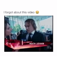 I forgot about this video  HEATH LEDGER i miss him so much