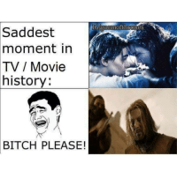 Memes, Bitch Please, and 🤖: I Gigaermofthrones  Saddest  moment in  TV Movie  history:  BITCH PLEASE! Which one was more heartbreaking for you? 👇