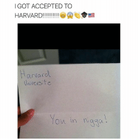 @cybernerds just got accepted: I GOT ACCEPTED TO  HARVARD!!!!!!!!!!  arvard.  Universit c  ow in naga @cybernerds just got accepted