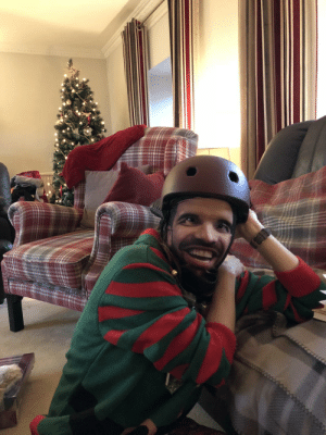 I got my gf a new bike helmet, my brother-in-law got her a Drake face-print balaclava and now she looks like a custom video game character: I got my gf a new bike helmet, my brother-in-law got her a Drake face-print balaclava and now she looks like a custom video game character