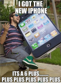 """I GOT THE  NEW IPHONE  ITS A 6 PLUS <p>Giant iPhone.<br/><a href=""""http://daily-meme.tumblr.com""""><span style=""""color: #0000cd;""""><a href=""""http://daily-meme.tumblr.com/"""">http://daily-meme.tumblr.com/</a></span></a></p>"""