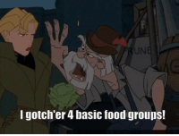 Disney, Food, and Funny: I gotch'er 4 basic food groups! Like the Alternative Disney page!