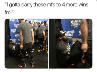 "Basketball, Cavs, and Easter: ""I gotta carry these mfs to 4 more wins  fml""  EASTER  FINALS  @NBA  INAL  EASTERN  NBA  EASTERN  FINALS  EASTERN  @NBA  如姒 He tired 😂 nbamemes nbaplayoffs cavs lebron (Via ‪CountOnVic‬-Twitter)"