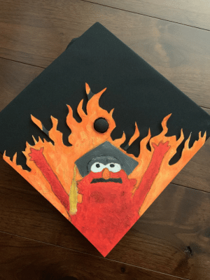 Today, Hat, and This: I graduate today. This is my hat.
