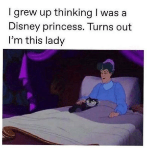 MeIRL: I grew up thinking I was a  Disney princess. Turns out  I'm this lady MeIRL