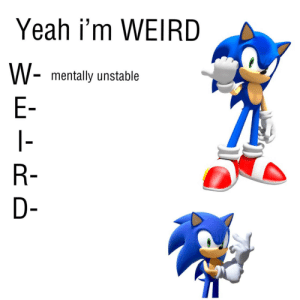 i guess i'm WEIRD by like_a_chickin MORE MEMES: i guess i'm WEIRD by like_a_chickin MORE MEMES