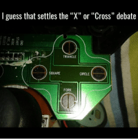 """I guess that settles the  """"X"""" or """"Cross"""" debate  TRIANGLE  SQUARE  CIRCLE  FORK ??? Fork? 😂 happy picoftheday gamer gaming pc ps3 ps4 xbox xbox360 xboxone"""