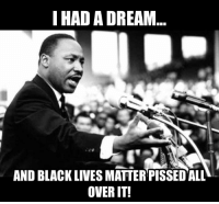 MUCH respect for Dr. Martin Luther King, JR. BLM, not so much..: I HAD A DREAM  AND BLACK LIVES MATTER PISSED ALL  OVER IT! MUCH respect for Dr. Martin Luther King, JR. BLM, not so much..