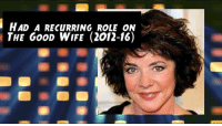 Happy 73rd Birthday to actress Stockard Channing.  Also known as Rizzo in Greece!: i HAD A RECURRING ROLE ON  THE GOOD WIFE (2012-16) Happy 73rd Birthday to actress Stockard Channing.  Also known as Rizzo in Greece!