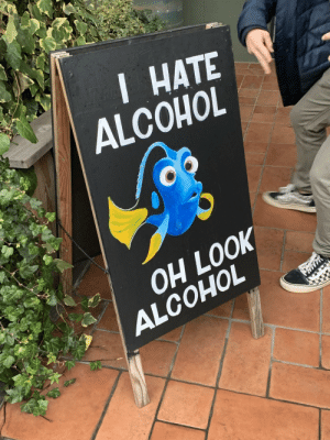 Oh look, alcohol: I HATE  ALCOHOL  OH LOOK  ALCOHOL Oh look, alcohol