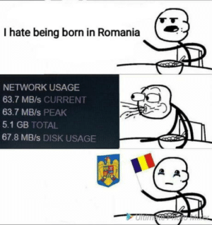 Well its not a big advantage but its something: I hate being born in Romania  NETWORK USAGE  63.7 MB/s CURRENT  63.7 MB/s PEAK  5.1 GB TOTAL  67.8 MB/s DISK USAGE  LT Well its not a big advantage but its something