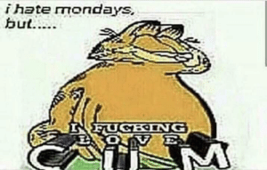 Mondays, Reddit, and Garfield: i hate mondays Garfield is sicko mode