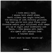 hate small talk