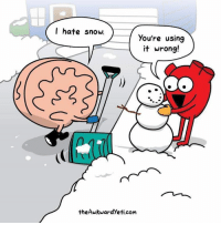 Memes, Snow, and 🤖: I hate snow.  you're using  it wrong!  theAwkwardlyeti com