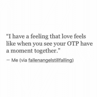 "PERCABETH SOLANGELO CALEO JIPER what about you guys?: ""I have a feeling that love feels  like when you see your OTP have  a moment together.""  Me (via fallenangelstillfalling) PERCABETH SOLANGELO CALEO JIPER what about you guys?"