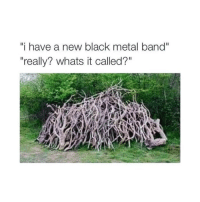 "Black, Dank Memes, and Metal: i have a new black metal band""  ""really? whats it called?"""