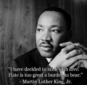 """Funny, Love, and Martin: """"I have decided to stick with love  Hate is too great a burden to bear.""""  -Martin Luther King, Jr. When you realize that destigmatizing the N word is a huge step for racism"""
