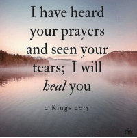 Comment amen if you believe that God will you. Credit @the700club: I have hean  your prayers  and seen your  tears; I will  beal you  2 л1ngs 20:5  700  GLUB Comment amen if you believe that God will you. Credit @the700club