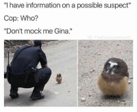 """Introvert, Memes, and Shower: """"I have information on a possible suspect""""  Cop: Who?  """"Don't mock me Gina.""""  G: The Funny Introvert Honest question to you guys: so, I'm pretty liberal and with that I live everything that can shoot down Donald Trump. (THAT'S NOT MY QUESTION ALT RIGHT KEYBOARD WARRIORS JUST WAIT A SEC) but like, I didn't ever believe d Trumps golden shower gate was real for even a second. Did you guys??? Be fr"""