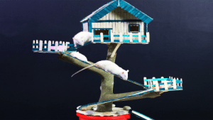 House, Tree, and Pet: i have made this tree house for my pet rats