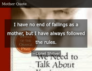 SIZZLE: I have no end of failings as a mother, but I have always followed the rules.