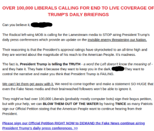 I have no words - this is a real email from the Trump campaign: I have no words - this is a real email from the Trump campaign