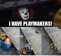 The Cavs just signed another player. ... cavs lebron it play make playmaker clown nba meme memes funny basketball nbamemes: I HAVE PLAYMAKERS!  @NBAMEMES The Cavs just signed another player. ... cavs lebron it play make playmaker clown nba meme memes funny basketball nbamemes