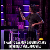 Dank, Demi Moore, and 🤖: I HAVE TO SAY OUR DAUGHTERS ARE  INCREDIBLY WELL-ADJUSTED Parenting isn't easy. Demi Moore reminisces at the #BruceWillisRoast, July 29.