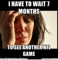 Fac, Meme, and Nfl: I HAVE TO WAIT T  MONTHS  TOSEE ANOTHERINFL.  GAME  Brought By Fac  ebook  com/NFL Memez That sad realization!