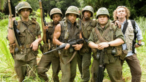 Dad, Tropic Thunder, and Movie: I havent seen Tropic Thunder (2008) so I don't know any details about it but you can ask my dad if you want he likes this movie.