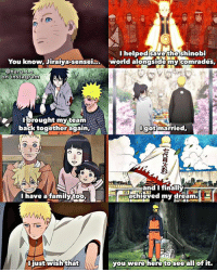 Choose One, Family, and Instagram: I helped savethe shinobi  You know, Jiraiya-sensei.. world alongside my comrades,  instagram  on instagramn  Tbrought my team  back together again,  gotmarried.  イ.  and I finally  achieved my dream  have afamilytO,  just wish tha  you were here to see all of it. I'm so sad Jiraiya didn't get to see how Naruto's life turned out & what he accomplished, he would've been so proud😣💔 ~~please don't repost-copy without credit!~~ • Q: If you could only choose one, would you bring back Jiraiya or Neji? (Such a hard question ik😭) Answer below!⬇️ • THANKS FOR 30K YOU GUYSS!!! I'm actually so beyond happy like whaaat 30k ppl that's insane!!🎉🎊To celebrate I made a special edit abt one of my favorite relationships, Jiraiya and Naruto's, that I'm actually so proud of (even tho it's rlly sad💔) Hope u all like it tho! Thanks again for 30k!!!🎉🙌💞 • Inspired by @naruhina.sasusakura's Neji version💫😭❤️ Credit to the artist for the Uzumaki family photo that was used in this edit💫 ~ Happy bday to Neji btw!! I'll post an edit involving him tmr :') ugh I miss him sm😩
