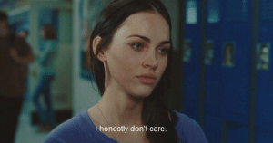 Care,  Dont, and  Don't Care: I honestly don't care.